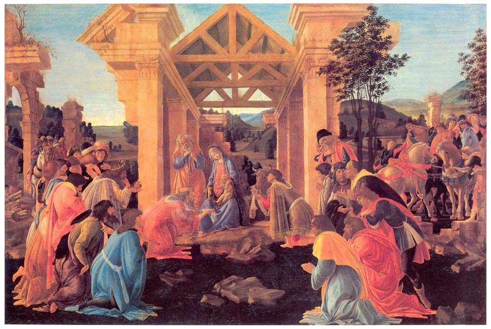 adoration of the magi botticelli texture